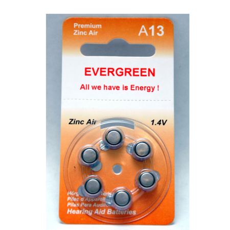 A13 Hearing Aid Battery