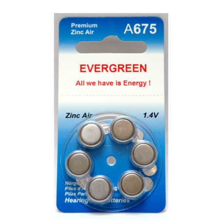 A675 Hearing Aid Battery